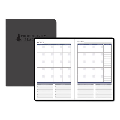 PRODUCTIVITY AND GOAL NON-DATED PLANNER, 9 1/4 X 6 1/4, BLUE
