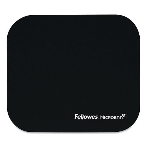 Mouse Pad W/microban, Nonskid Base, 9 X 8, Black