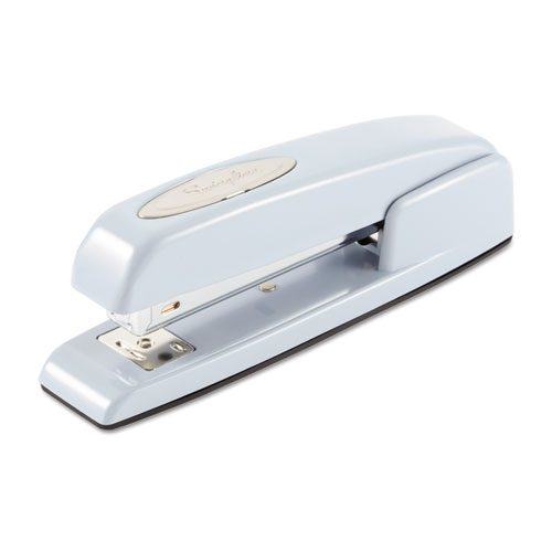 747 Business Full Strip Desk Stapler, 25-Sheet Capacity, Sky Blue