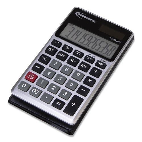 Image for 15922 POCKET CALCULATOR, DUAL POWER, 12-DIGIT LCD DISPLAY