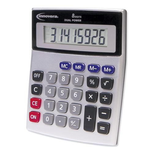 Image for 15927 DESKTOP CALCULATOR, DUAL POWER, 8-DIGIT LCD DISPLAY