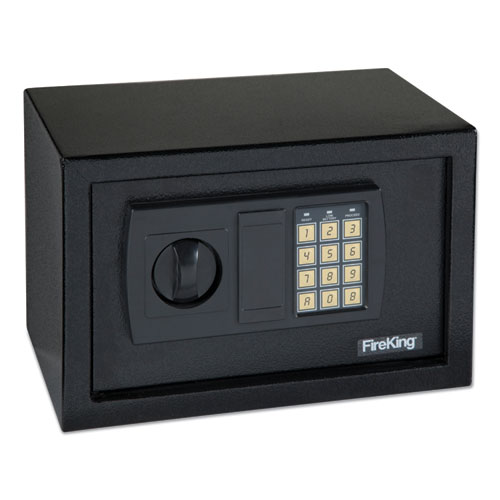 Image for SMALL PERSONAL SAFE, 0.3 CU FT, 12.25W X 7.75D X 7.75H, BLACK