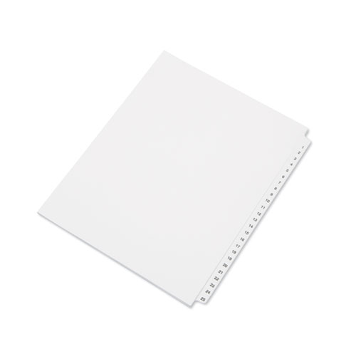 7530014072250 SKILCRAFT TABLE OF CONTENTS INDEXES, 25-TAB, 1 TO 25, 14 X 8.5, WHITE, 1 SET
