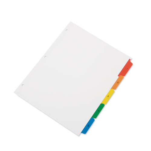 7530013649489 SKILCRAFT TABLE OF CONTENTS INDEXES, 5-TAB, 1 TO 5, 11 X 8.5, WHITE, 1 SET