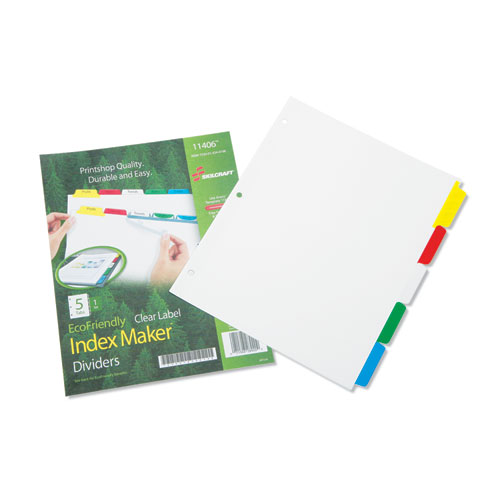 7530014344198 SKILCRAFT AVERY INDEX MAKER DIVIDERS, 5-TAB, 11 X 8.5, WHITE, 1 SET