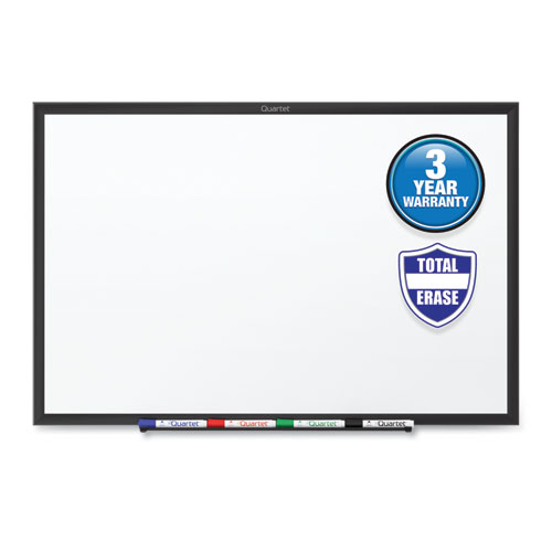 CLASSIC SERIES TOTAL ERASE DRY ERASE BOARD, 24 X 18, WHITE SURFACE, BLACK FRAME