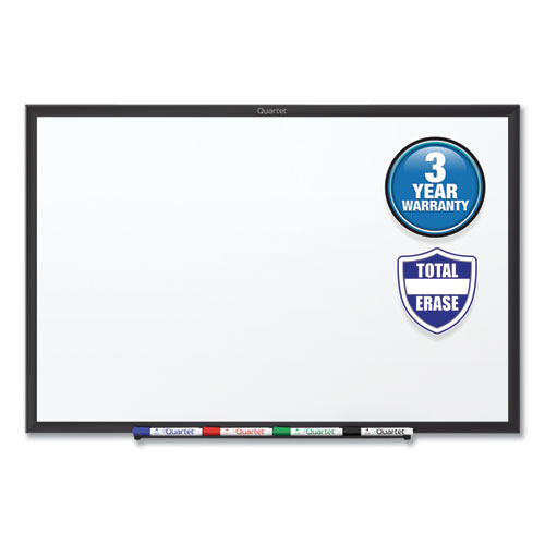 CLASSIC SERIES TOTAL ERASE DRY ERASE BOARD, 60 X 36, WHITE SURFACE, BLACK FRAME