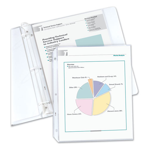 ECONOMY WEIGHT POLY SHEET PROTECTORS, REDUCED GLARE, 2