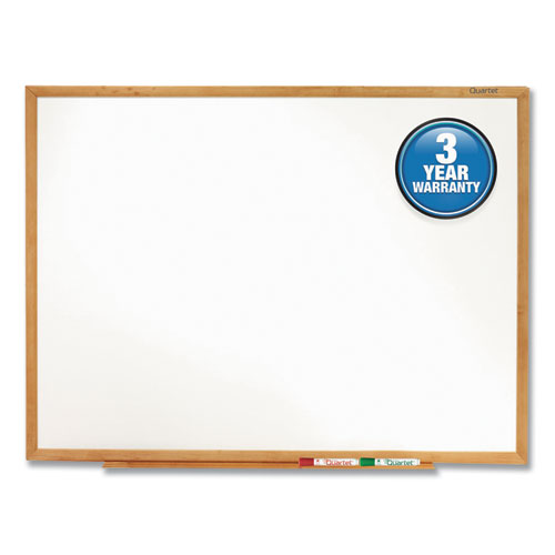 CLASSIC SERIES TOTAL ERASE DRY ERASE BOARD, 72 X 48, OAK FINISH FRAME