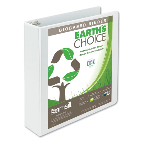 EARTH'S CHOICE BIOBASED ROUND RING VIEW BINDER, 3 RINGS, 2