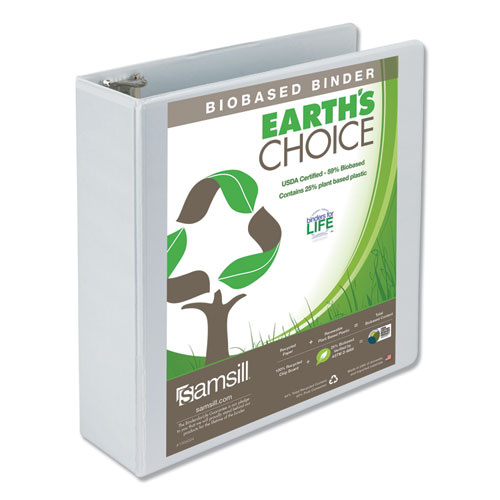EARTH'S CHOICE BIOBASED ROUND RING VIEW BINDER, 3 RINGS, 3