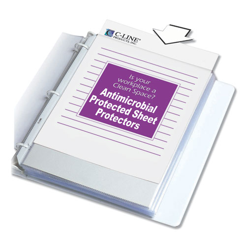 HVYWT POLY SHT PROTECTORS, CLEAR, TOP-LOADING, 2
