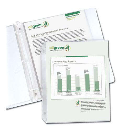 RECYCLED POLYPROPYLENE SHEET PROTECTORS, REDUCED GLARE, 2