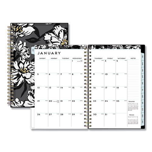 BACCARA DARK CYO WEEKLY/MONTHLY PLANNER, 8 X 5, 2021