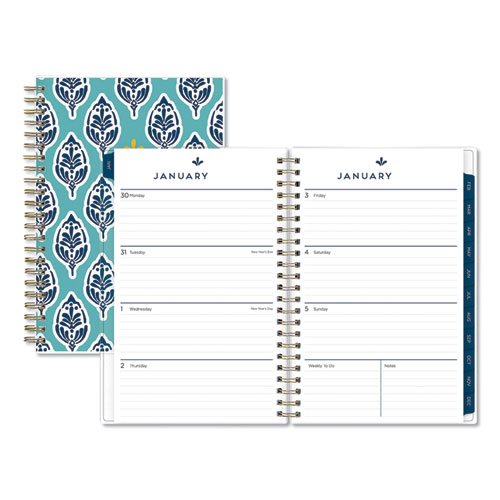 SULLANA WEEKLY/MONTHLY PLANNER, 8 X 5, TEAL COVER, 2021