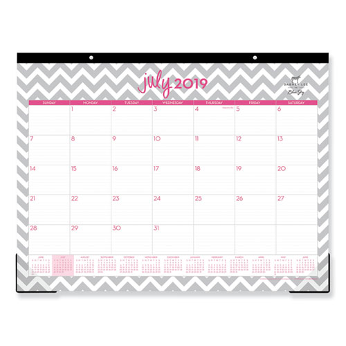 Image for DABNEY LEE OLLIE ACADEMIC YEAR DESK PAD, 22 X 17, GRAY CHEVRON, 2019-2020