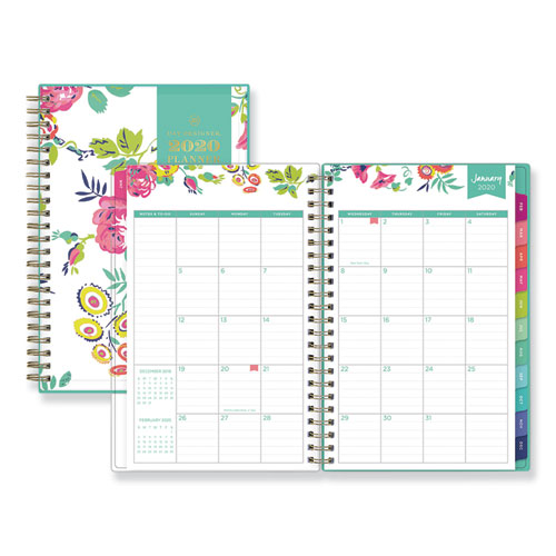 DAY DESIGNER CYO WEEKLY/MONTHLY PLANNER, 8 X 5, WHITE/FLORAL, 2021