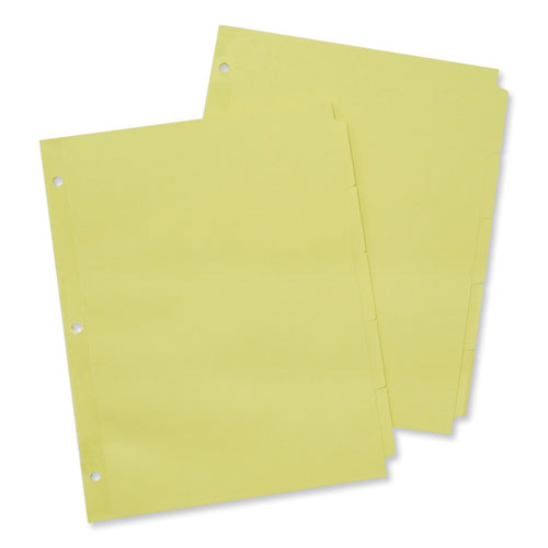 SELF-TAB INDEX DIVIDERS, 5-TAB, 11 X 8.5, BUFF, 36 SETS