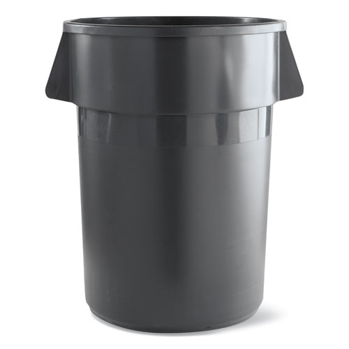 Image for Round Waste Receptacle, Lldpe, 32 Gal, Gray