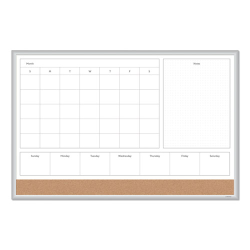 Image for 4N1 MAGNETIC DRY ERASE COMBO BOARD, 36 X 24, WHITE/NATURAL