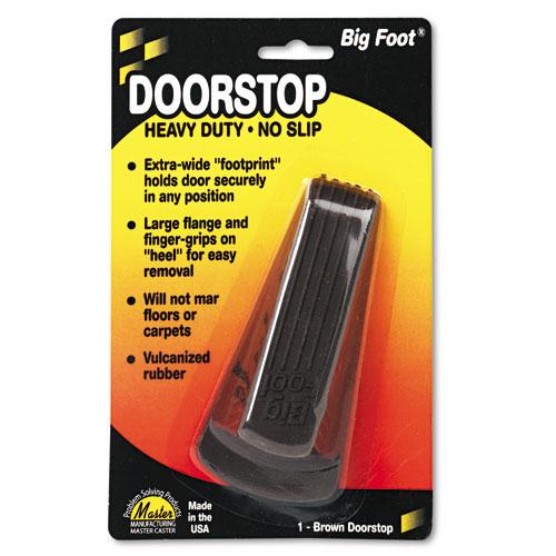 Image for BIG FOOT DOORSTOP, NO SLIP RUBBER WEDGE, 2.25W X 4.75D X 1.25H, BROWN