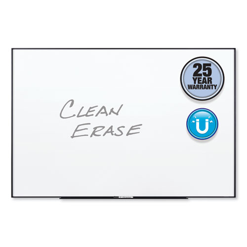 Fusion Nano-Clean Magnetic Whiteboard, 48 X 36, Black Frame