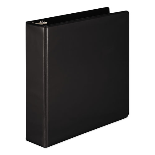 HEAVY-DUTY ROUND RING VIEW BINDER WITH EXTRA-DURABLE HINGE, 3 RINGS, 2