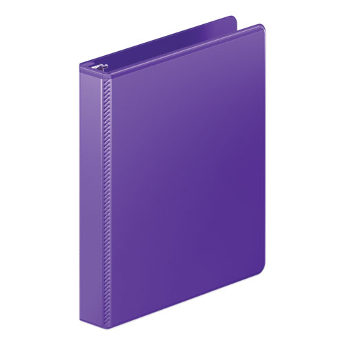HEAVY-DUTY ROUND RING VIEW BINDER WITH EXTRA-DURABLE HINGE, 3 RINGS, 1
