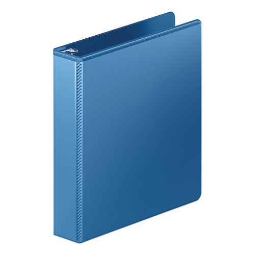 HEAVY-DUTY ROUND RING VIEW BINDER WITH EXTRA-DURABLE HINGE, 3 RINGS, 1.5
