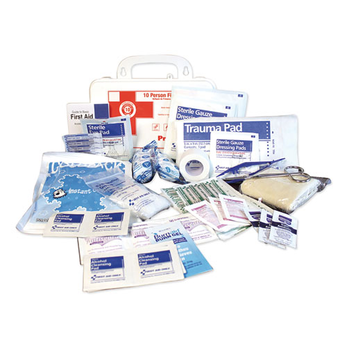 Image for 10-PERSON FIRST AID KIT, 62 PIECES, 8.5 X 5.5 X 3.25, PLASTIC CASE
