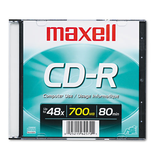 Image for Cd-R Disc, 700mb/80min, 48x, W/slim Jewel Case, Silver