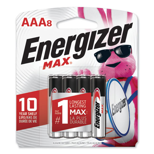 MAX ALKALINE AAA BATTERIES, 1.5V, 8/PACK