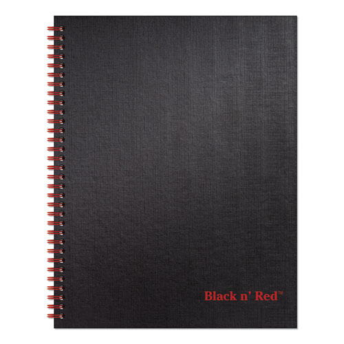 TWINWIRE HARDCOVER NOTEBOOK, WIDE/LEGAL RULE, BLACK COVER, 11 X 8.5, 70 SHEETS