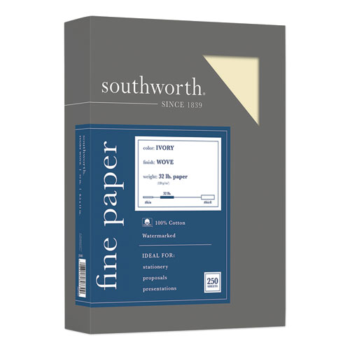 Image for 100% COTTON BUSINESS PAPER, 32 LB, 8.5 X 11, IVORY, 250/PACK