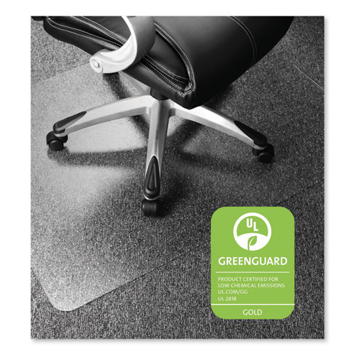 CLEARTEX ULTIMAT XXL POLYCARB SQUARE OFFICE MAT FOR CARPETS, 59 X 79, CLEAR