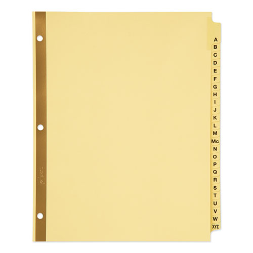 Preprinted Laminated Tab Dividers W/gold Reinforced Binding Edge, 25-Tab, Letter
