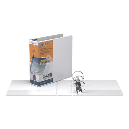 QUICKFIT ROUND-RING VIEW BINDER, 3 RINGS, 3