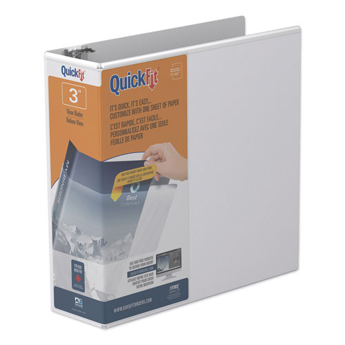 QUICKFIT D-RING VIEW BINDER, 3 RINGS, 3