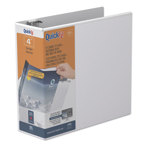 QUICKFIT D-RING VIEW BINDER, 3 RINGS, 4