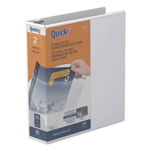 QUICKFIT D-RING VIEW BINDER, 3 RINGS, 2