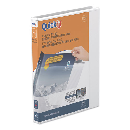 QUICKFIT D-RING VIEW BINDER, 3 RINGS, 0.63
