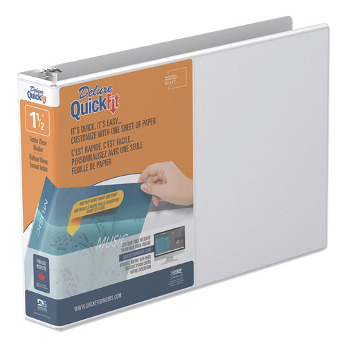 QUICKFIT LANDSCAPE SPREADSHEET ROUND RING VIEW BINDER, 3 RINGS, 1.5