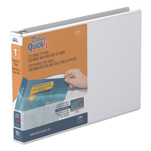 QUICKFIT LANDSCAPE SPREADSHEET ROUND RING VIEW BINDER, 3 RINGS, 1