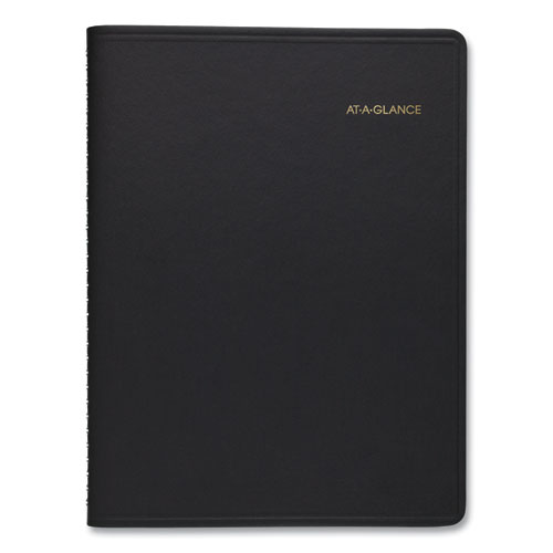 WEEKLY PLANNER RULED FOR OPEN SCHEDULING, 8.75 X 6.75, BLACK, 2021