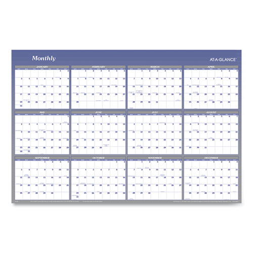 VERTICAL/HORIZONTAL ERASABLE WALL PLANNER, 32 X 48, 2021