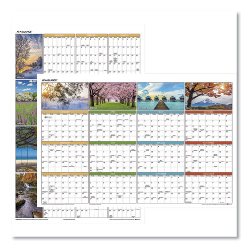 SEASONS IN BLOOM VERTICAL/HORIZONTAL ERASABLE WALL PLANNER, 24 X 36, 2021