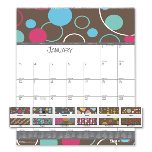 Image for 100% RECYCLED BUBBLELUXE WALL CALENDAR, 12 X 12, 2020
