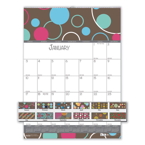 Image for 100% RECYCLED BUBBLELUXE WALL CALENDAR, 12 X 16 1/2, 2020