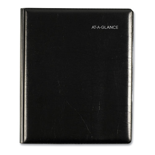 EXECUTIVE WEEKLY/MONTHLY PLANNER, 8 3/4 X 6 7/8, BLACK, 2020