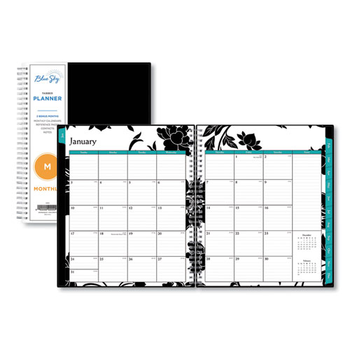 BARCELONA MONTHLY PLANNER, 10 X 8, BLACK COVER, 2021